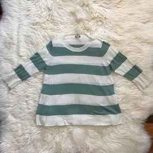 J. Crew Silk/Linen Striped Shirt